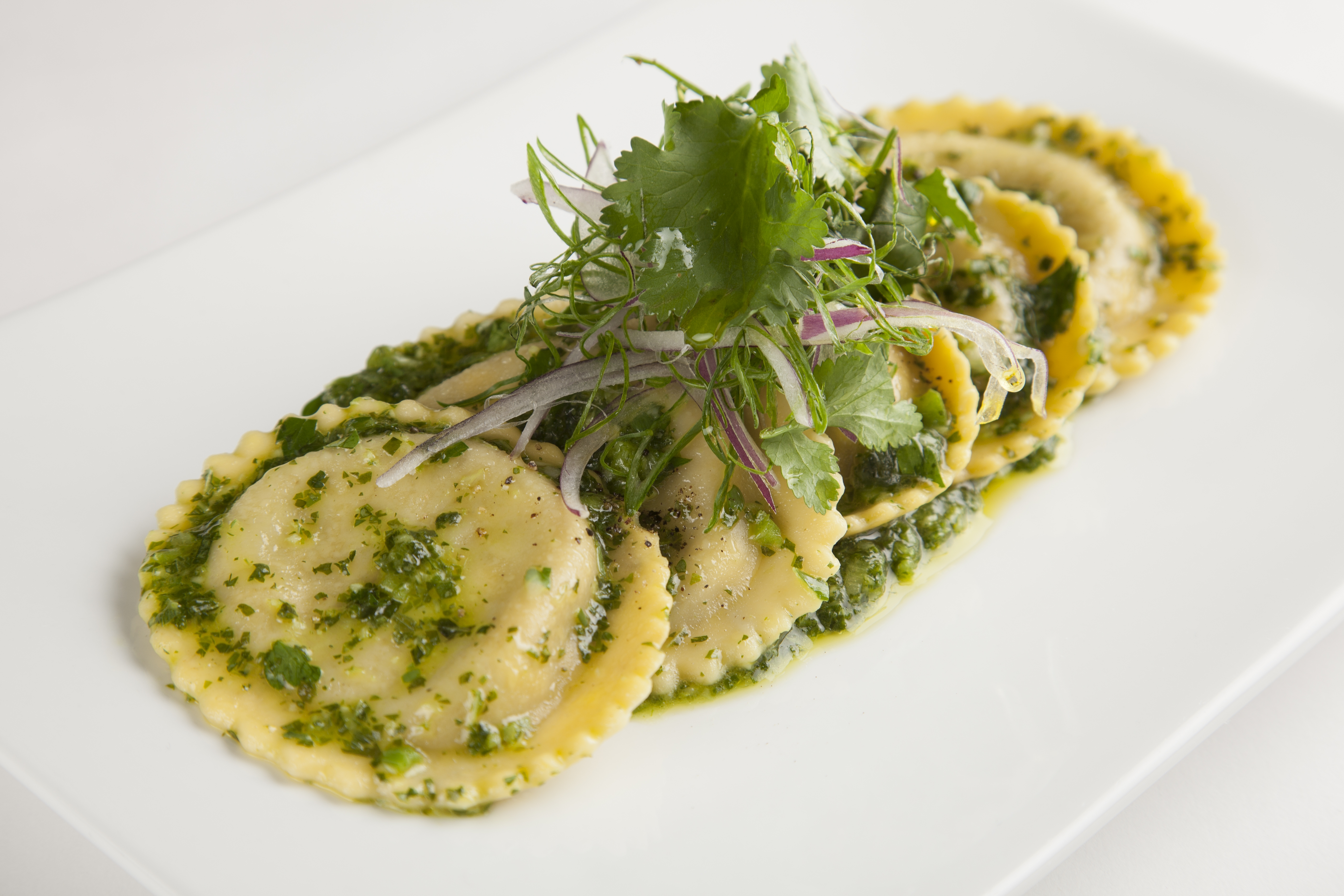 Carla's Pasta Recipe for Braised Beef Ravioli with Chimichurri