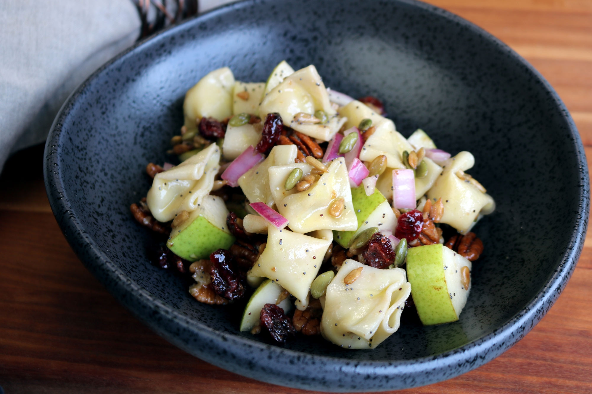Carla's Pasta Recipe for Warm Harvest Pear and Gorgonzola Salad