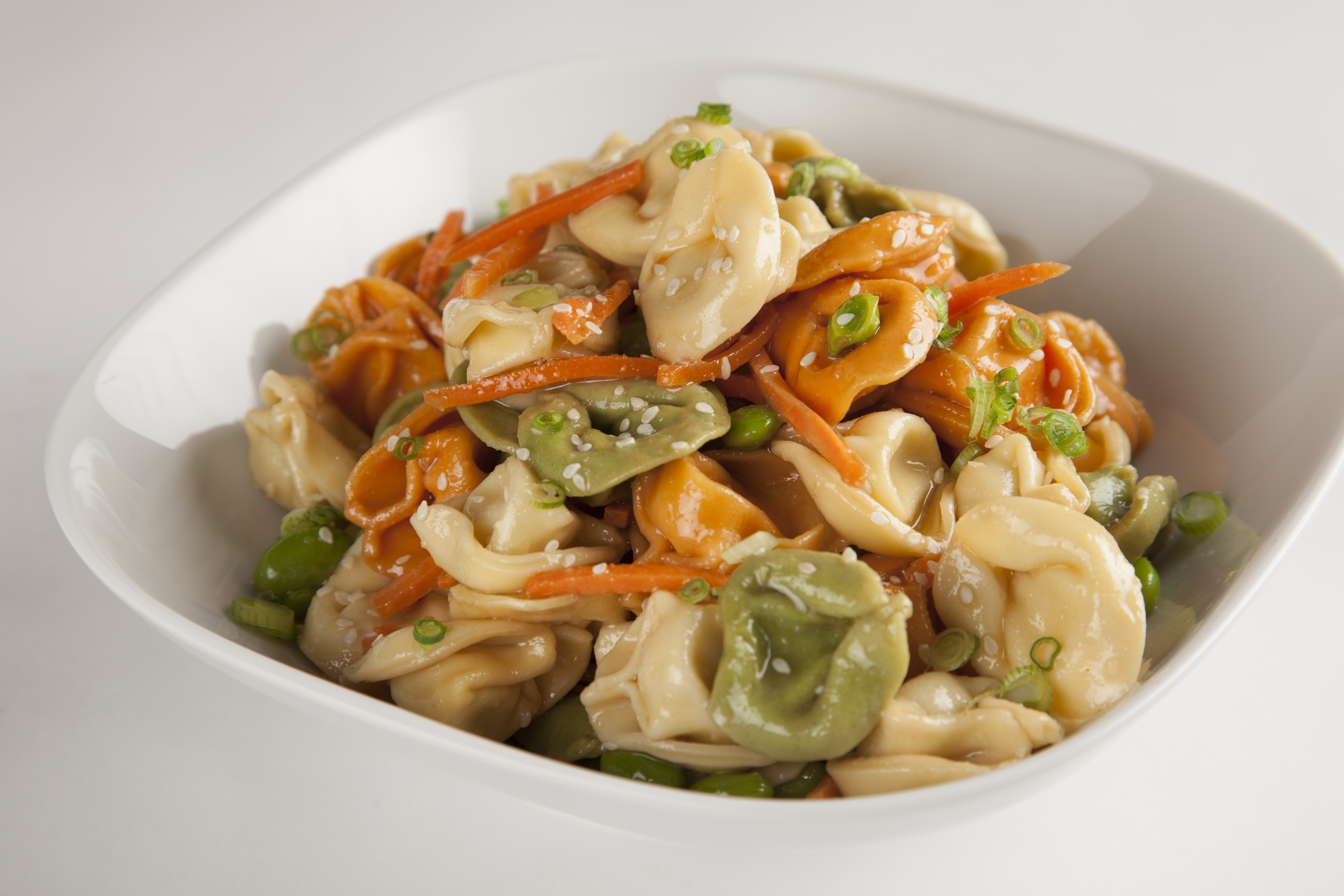 Asian Pasta Salad with Tricolored Tortellini
